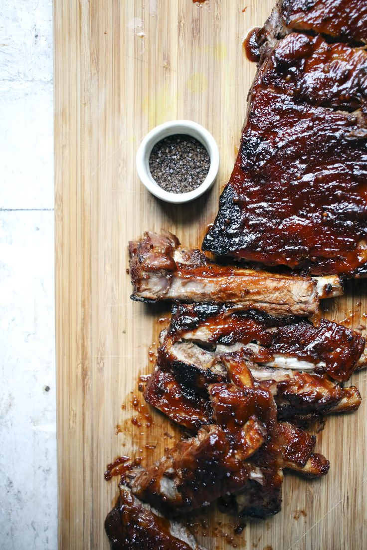 Pomegranate Molasses BBQ Ribs with Smoked Sea Salt | I Will Not Eat Oysters