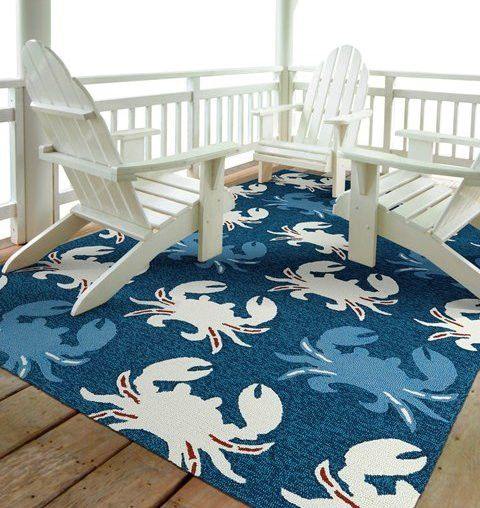 Crab Fest Indoor/Outdoor Rugs $75-$1,380