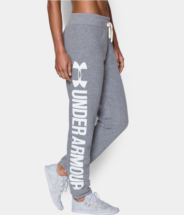 under armour favorite fleece boyfriend pant - true heather gray. $54.99.