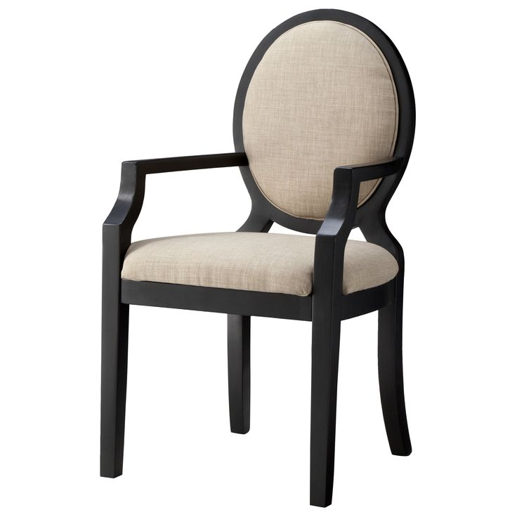 <p>Regal elegance is built into every inch of the Morris Oval Back Dining Chair with Arms. This very attractive dining room chair features an extra wide base and seat for comfort and opulent appeal. The generously padded seat and back rest provide comfort and will have people lingering over meals rather than racing away. The oval back dining chairs are made with the attention to detail and the quality that their vintage inspiration pieces were known for.</p>