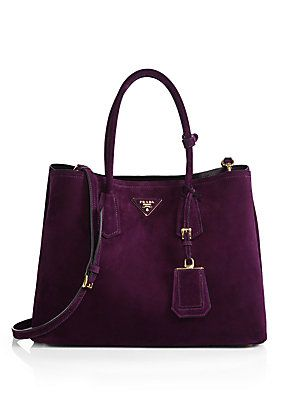 There's a tear falling from my eye onto this Prada Suede Double Bag. The tear is instantly ruining the bag, which is why I'm crying, because I can't buy it. It's a vicious cycle.
