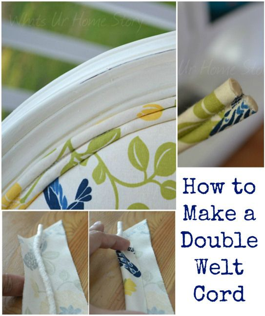 How to make a double welt cord, Step by step tutorial on www.whatsurhomestory.com