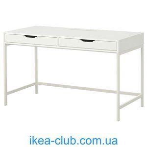 ИКЕА, IKEA, АЛЕКС, 402.607.17, Письменный стол, белый, 131x60 см