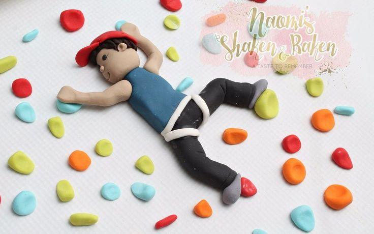 Edible Rock Climbing Fondant Cake Topper Set 10-13cm #Birthday