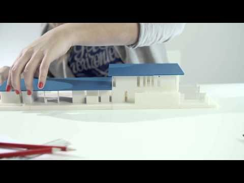 Zortrax M200 3D printer - 3D printed architectural model - YouTube