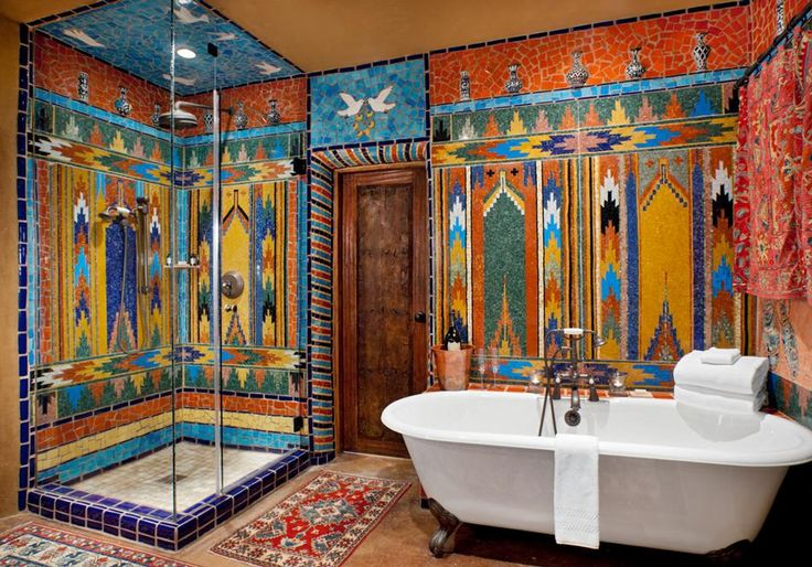 330 best beautiful baths images on pinterest home ideas for Southwestern home decor