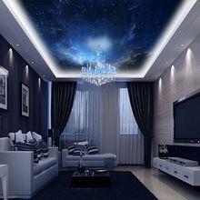 Espaço da noite personalizado 3d quarto papel de parede paisagem papel de parede papel de parede mural decor para sala de estar quarto casa piso 3d(China (Mainland))