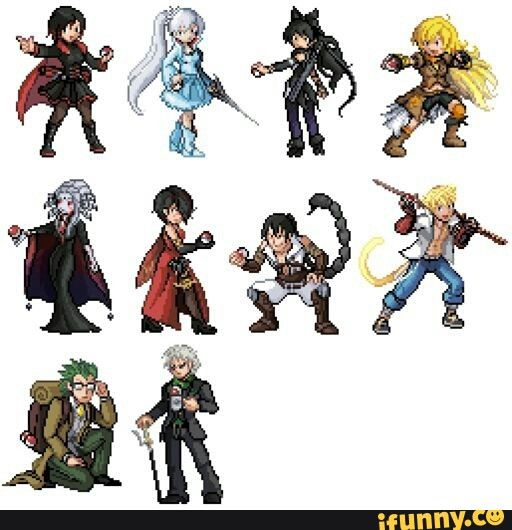I like the idea to make charaters from RWBY look alike GBA Pokemon pixel.