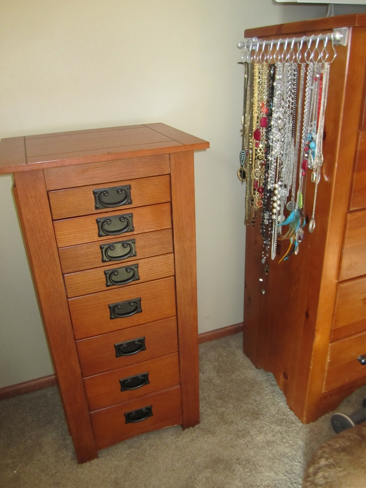 AFTER... I decided to put it on my dresser, next to my jewelery stand and I can finally close the doors to my jewelery stand.
