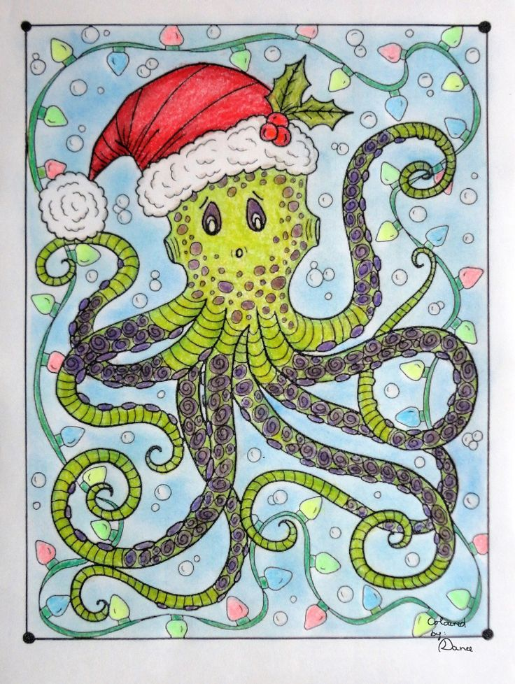 Octo-Claus Coloured with Prismacolor
