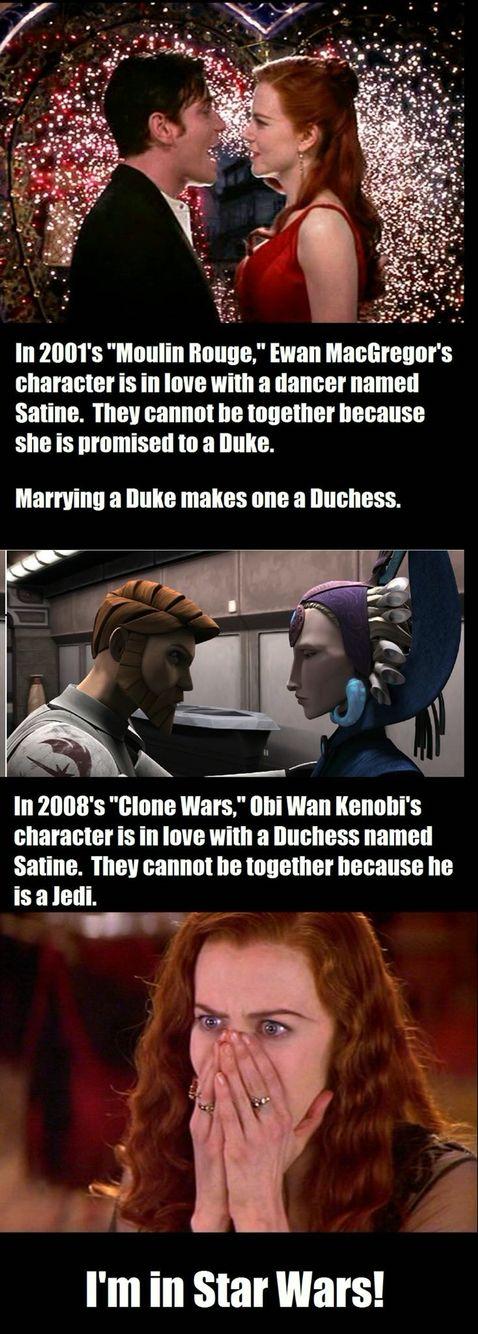 Obi-Wan and Satine.  #starwars #moulinrouge