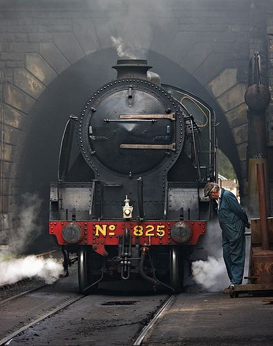 Southern 825 steam engine. Built between 1920 - 1936 by Eastleigh Works in Eastleigh, Hampshire, England.