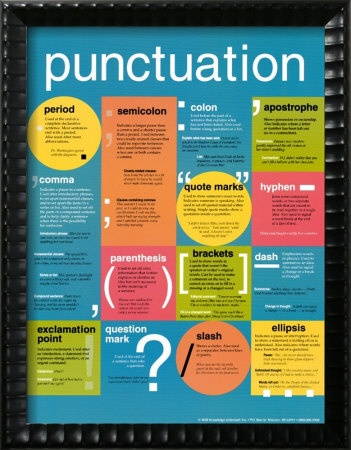 I want to hang this in the bathroom where it will get memorized by my children. A grammar poster would be awesome too.