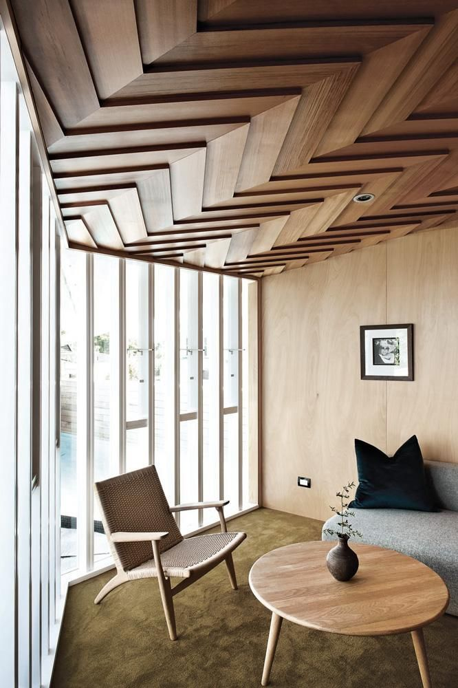 Interior design trend Statement ceilings in 2019  Beautiful interior spaces  Wooden ceiling