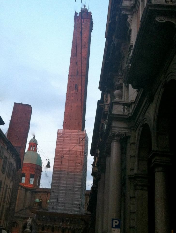 "Bologna's Two Towers - ""Emilia-Romagna in 4 Words"" by @Angie Wimberly Away"
