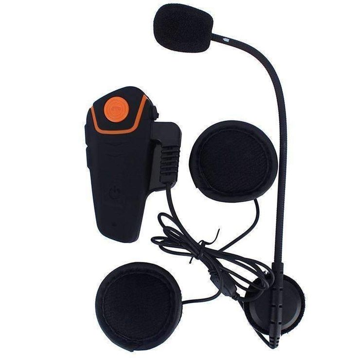 Motorcycle Headset 1000m Range Bluetooth Handsfree Calls FM Radio GPS Connect 450mAh Battery