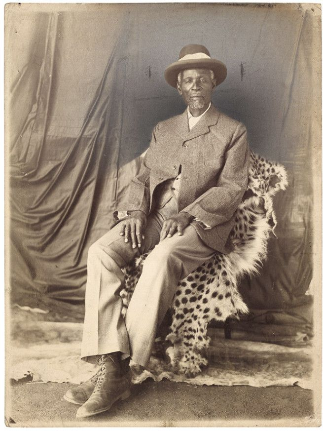 'Portrait of King Khama III' South Africa, early twentieth century Khama III (1837?-1923), also known as Khama the Good, was the kgosi (meaning chief or king) of the Bamangwato people of Bechuanaland (now Botswana), who made his country a protectorate of the United Kingdom to ensure its survival against Boer and Ndebele encroachments