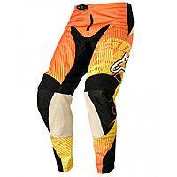 Мото брюки Alpinestars Charger текстиль оранжевые / красные / желтые 3721214 435