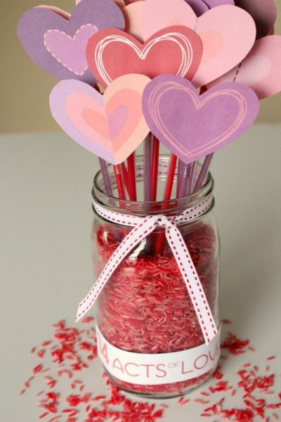 14 Acts of Love to count down to Valentines Day!Heart Crafts, Valentine Crafts, Valentine'S Day, Crafts Ideas, Valentine Day Crafts, For Kids, Crafts Kids, Families Activities, Valentine Ideas