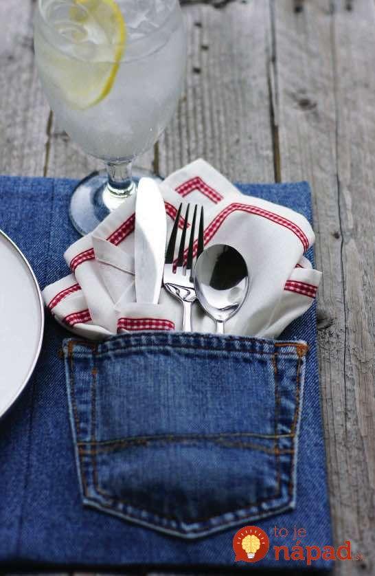 Máte aj vy doma džínsy, ktoré už nenosíte? Rozhodne ich nevyhadzujte. Ukážeme vám skvelé tipy, ako premeniť staré džínsy na štýlové a originálne doplnky.    Koberec, odolná hračka pre deti, podložka pod šálky či originálny prehoz na