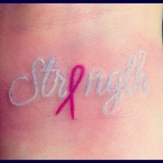 strength breast cancer tattoos - Google Search