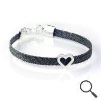 The original collection by designer Nanna Salmi Horsehair bracelet Puella, Ribbon 6mm