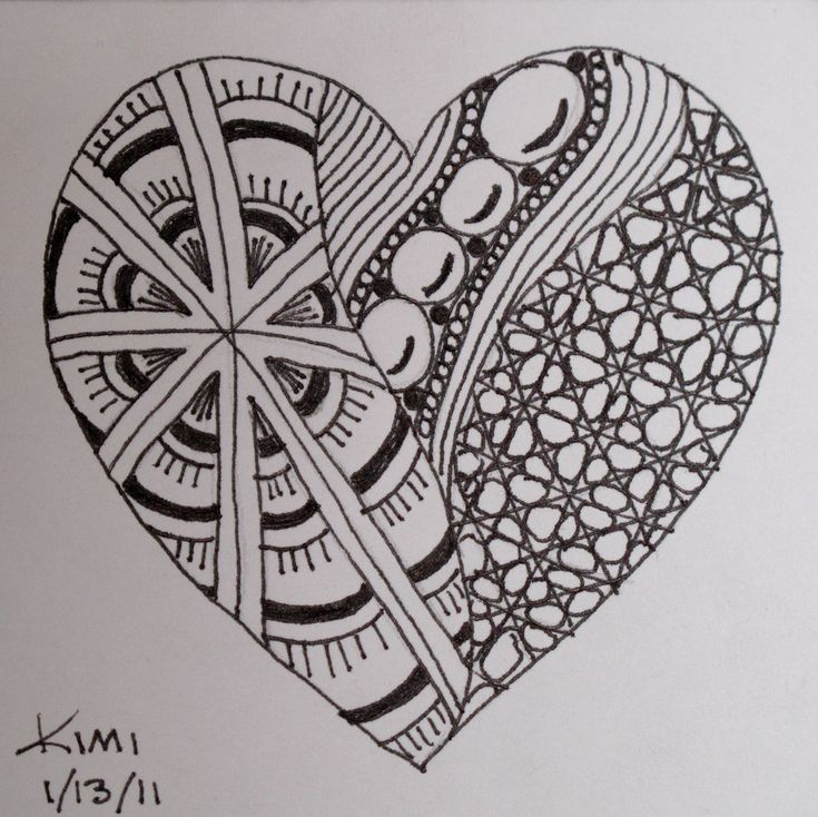zentangle challenge specifically use for teaching line as an element of art exercise - Art Design Ideas