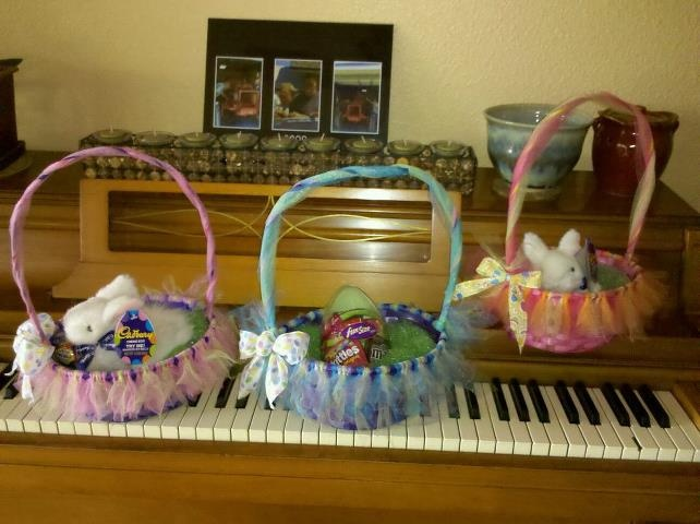 74 best decorating with tulle images on pinterest boxes i made these easter baskets decorated with tulle for my granddaughters negle Gallery