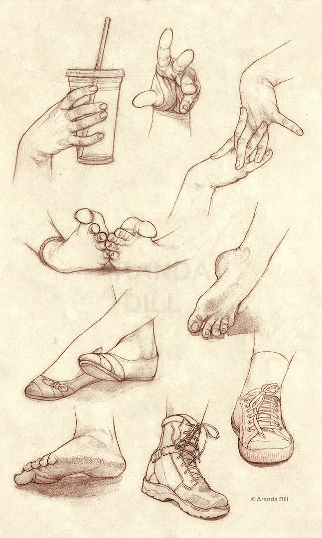 Hands Feet and Shoes by =ArandaDill ✤ || CHARACTER DESIGN REFERENCES | Find more at https://www.facebook.com/CharacterDesignReferences if you're looking for: #line #art #character #design #model #sheet #illustration #expressions #best #concept #animation #drawing #archive #library #reference #anatomy #traditional #draw #development #artist #pose #settei #gestures #how #to #tutorial #conceptart #modelsheet #cartoon #feet #foot