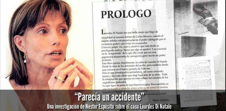 Lourdes Di Natale Lourdes Di Natale fue testigo clave en la causa por contrabando de armas durante la presidencia de Menem néstor espósito Un accidente