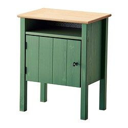 "HURDAL Nightstand - IKEA $99  Product dimensions Width: 19 1/4 "" Depth: 13 3/8 "" Height under furniture: 7 7/8 "" / 7 7/8 """