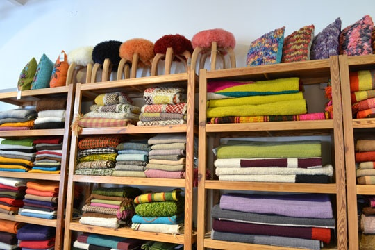 Beautiful blankets? fabric? I don't care, I want to go there. Elementos Argentinos in Buenos Aires, Argentina