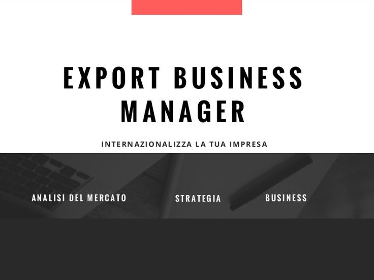 Export business manager