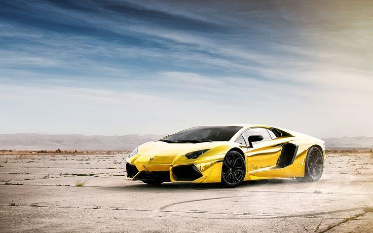 World No1 Luxury Car Lamborghini Aventador Gold Hd