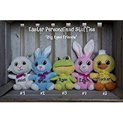 Personalized Plush Animal, Personalized Stuffed Animal, Personalized Stuffed Toys, Easter Plush, Easter gift, Easter Stuffed Animal