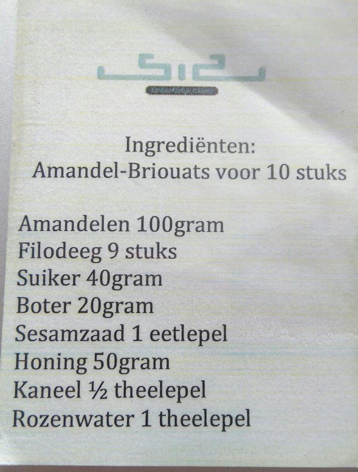 Amandel briouats 10 stuks
