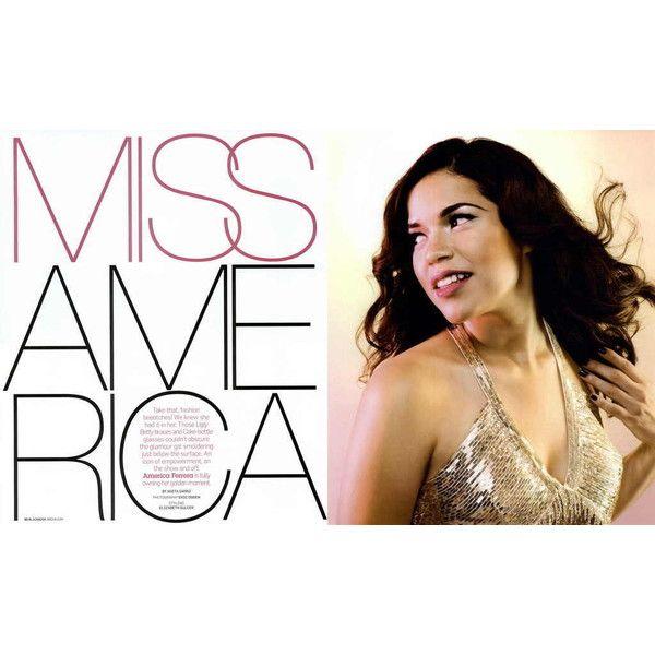 BlackBook Editorial Miss America, August 2008 Shot #1 - MyFDB ❤ liked on Polyvore featuring america ferrera and editorials