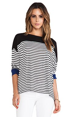 Bcbgmaxazria Rochelle Striped Top $63.14 http://richgurl.com/linkout/1836472