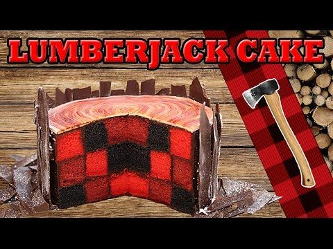 In this video, i show you how to make a checkerboard lumberjack cake that looks like a log of wood. You will need: -3 cakes of different colours -chocolat ga...