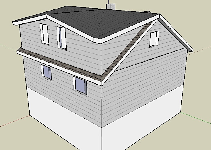 This instead of straight shed dormer?