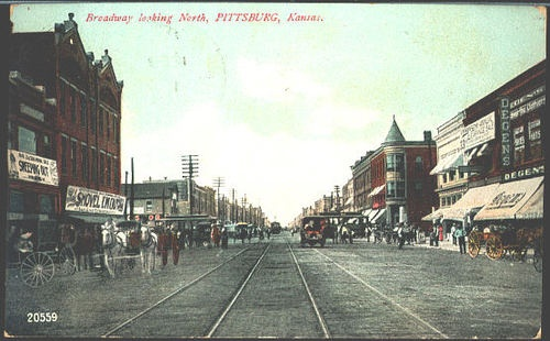 Pittsburg Kansas KS 1908