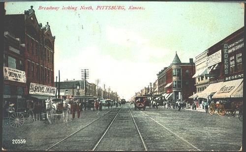 Pittsburg Kansas KS 1908