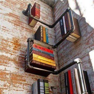 Love this bookshelf idea