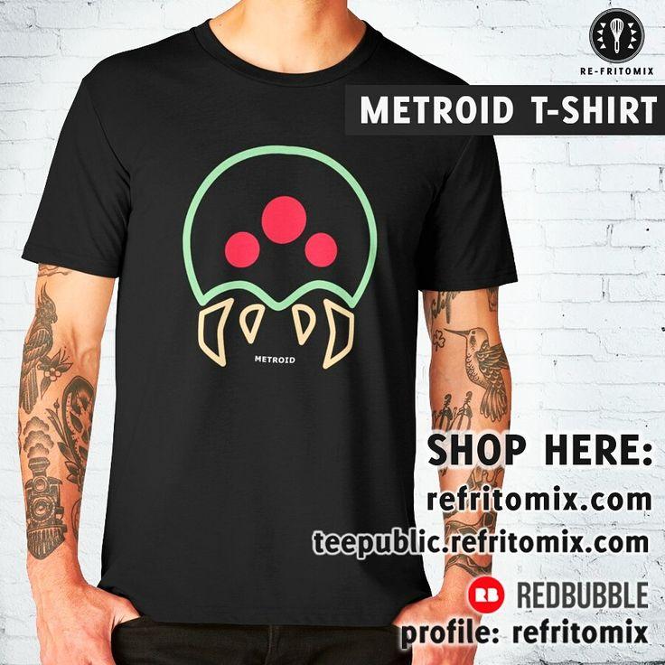 NEW!!! 🔥 METROID T-SHIRT 🔥 available on:   Redbubble profile: refritomix Teepublic profile: refritomix latostadora profile: refritomix society6 profile: re-fritomix  #gamer #gaming #metroid #samus #retrovideogames #tshirt #videogames