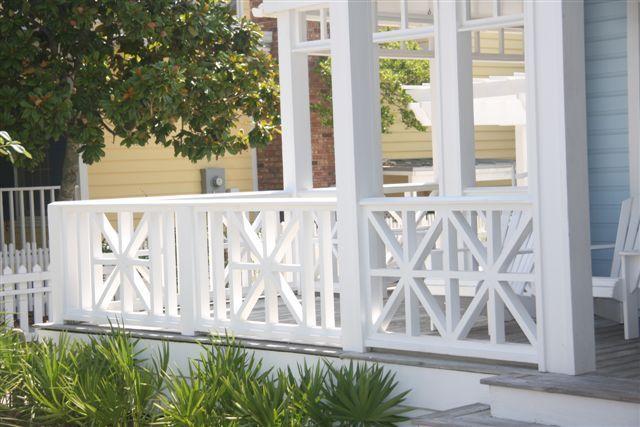 Wood Porch Rail   Porch railing, Patio railing, Front ...