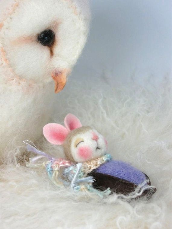 ADOPT A BUNNY Pawdling Needle Felted Eva  Bunny in by barby303, $54.00