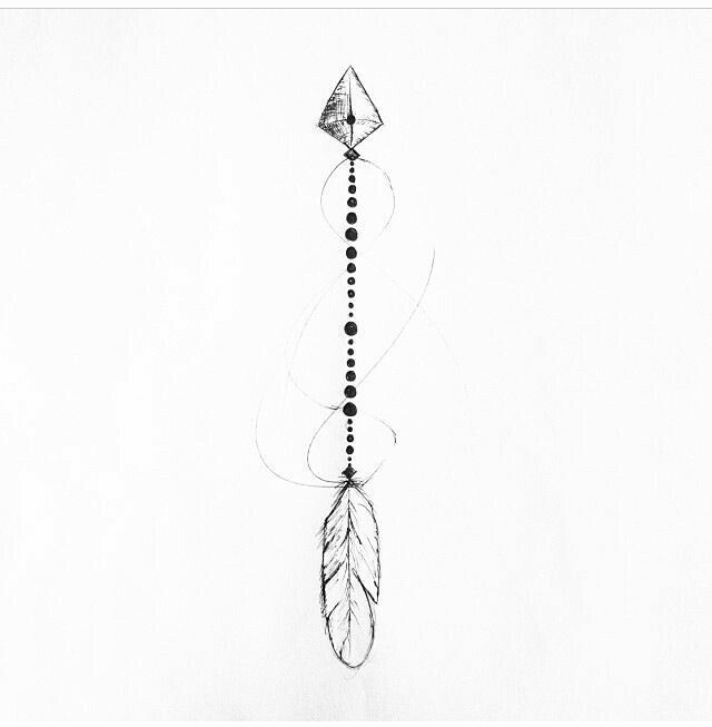 Arrow tattoo inspiration idea spine or sternum placement