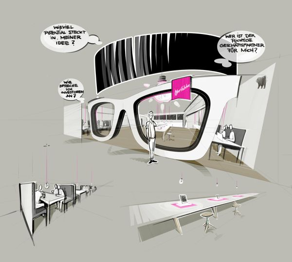 Exhibition Stand Sketchup : Deutsche telekom mwc by timo müller via behance