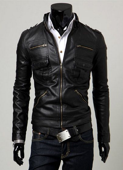 Black Leather Jacket by Wowcosplay, $86.00