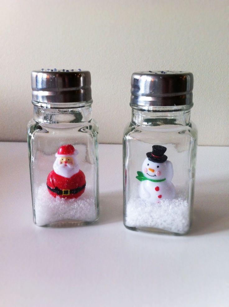 Salt Shaker Snow Globes